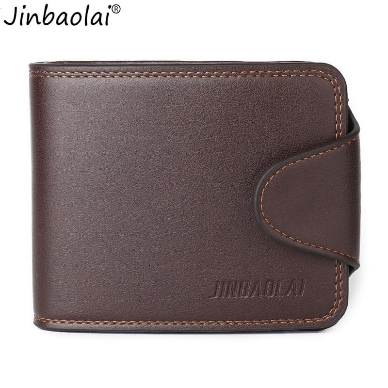 JINBAOLAI Men Short Type Wallets