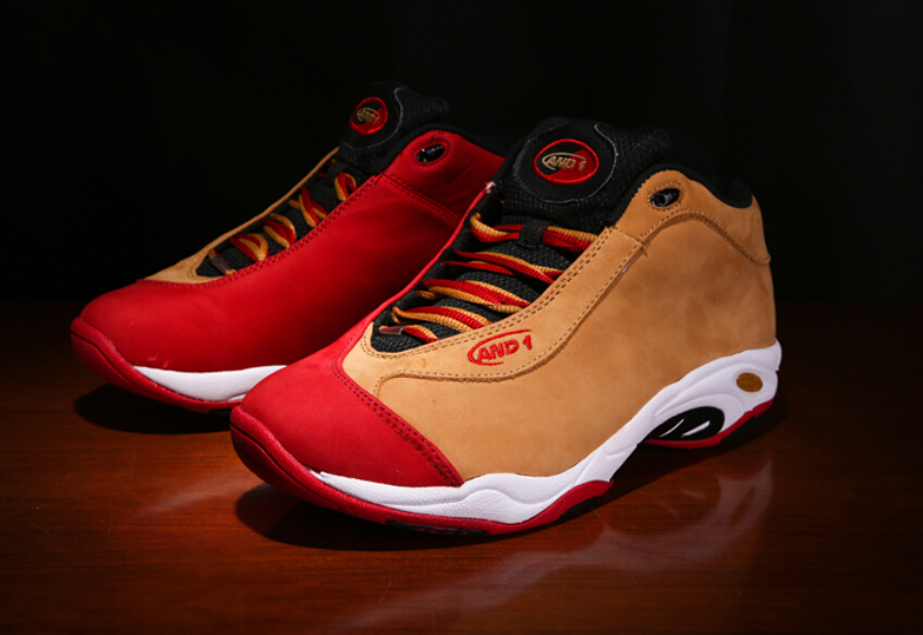 Free shipping 100% genuine new Carter AND1 Tai Chi yards basketball shoes  red orange rubber cloth size 8.5 12 13 14 15 16 17-in Basketball Shoes from  Sports ... 45631c863151