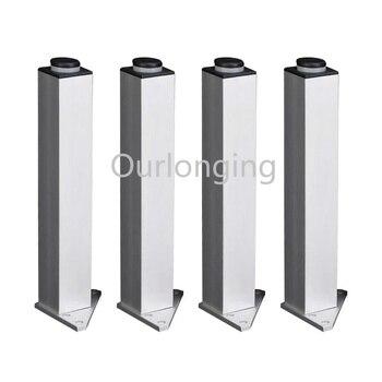 4PCS  180mm Adjustable Square Silver Aluminum Alloy Furniture Legs Cabinet Sofa Feet