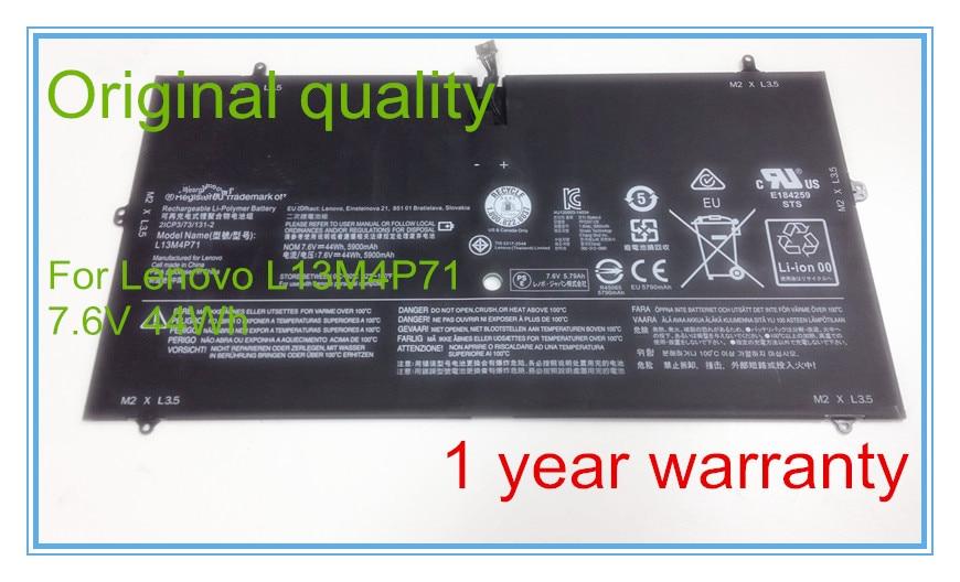 7.6V 5900MAH original laptop battery L13M4P71 for Pro 1370 laptop batteries цена