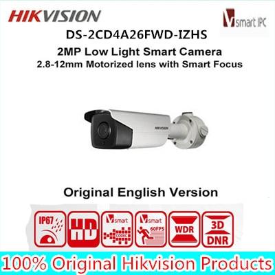 LPR Camera DS-2CD4A26FWD-IZHS Hik 2MP Ultra-low light Bullet Smart Camera Smart Focus heater Face Detection IR50m audio/alarm IO touchstone teacher s edition 4 with audio cd
