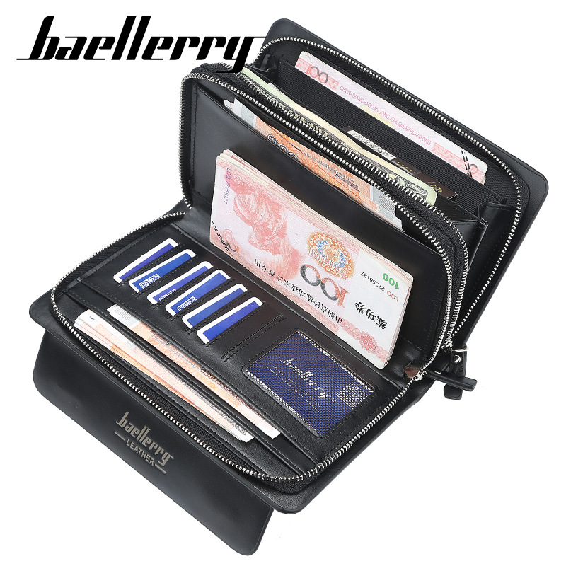 Image 4 - 2020 High Quality Men Clutch Wallets Large Capacity Business Men Wallets Cell Phone Pocket Passcard Pocket Wallet For MenWallets   -