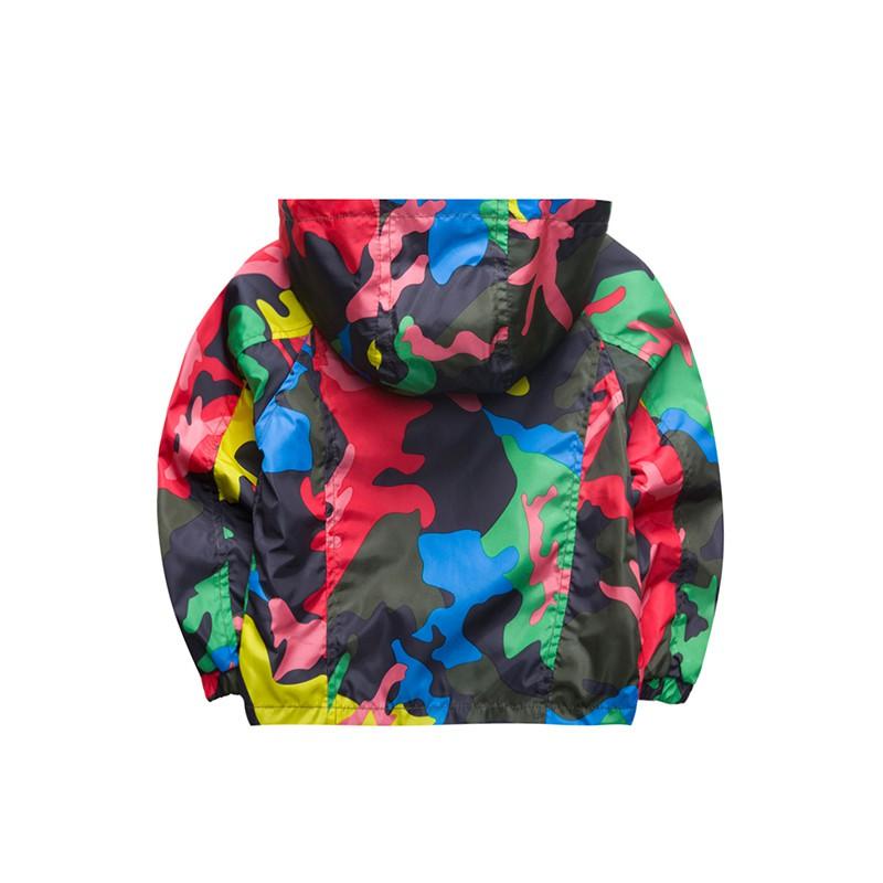 80-140cm Camouflage Spring Outerwear Children Hooded Jacket For Boys Kids Girls Trench Coat Hooded Windbreaker Sport Suit (15)