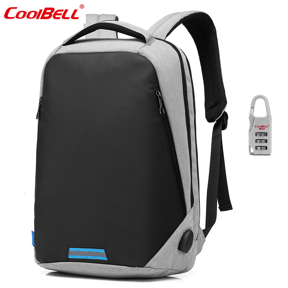 CoolBell Laptop Backpack Men Anti-theft Backpack Mochila 15.6 inch School Bag Women Large Capacity Notebook Computer Backpack coolbell brand laptop bag 15 6 15 inch laptop backpack computer travel backpack bag men women mochila escolar school office bags