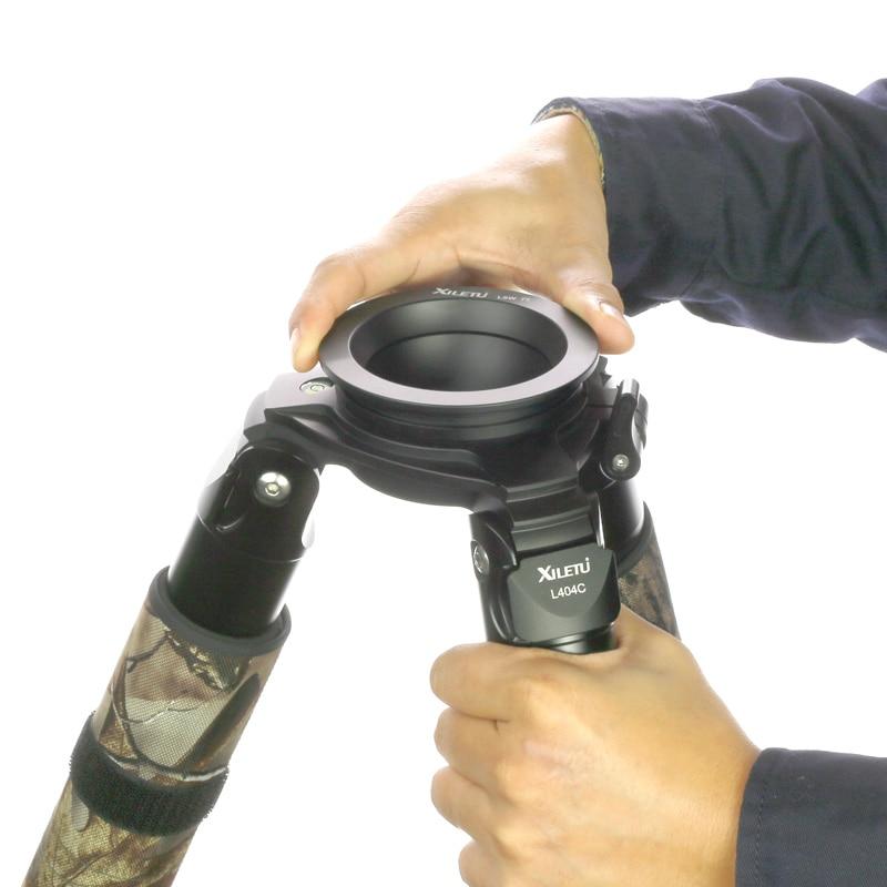 XILETU LSW-100 100 mm Media bola trípode de aleación de aluminio - Cámara y foto - foto 4