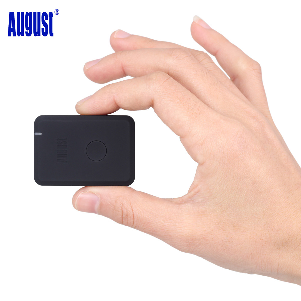August MR230 Wireless Bluetooth 4.2 Receiver aptX Low Latency 3.5mm AUX Bluetooth Audio Music Adapter for Car Speaker Headphone car usb sd aux adapter digital music changer mp3 converter for volkswagen beetle 2009 2011 fits select oem radios