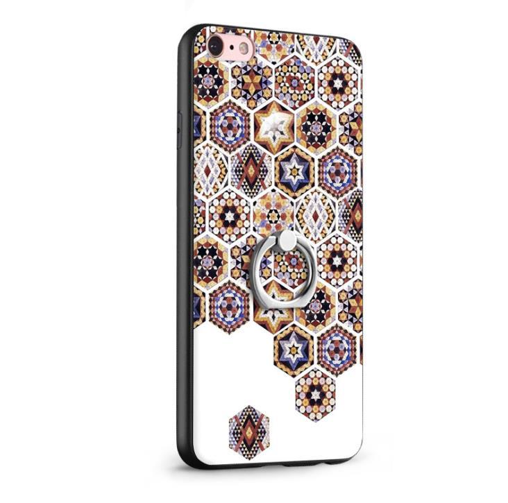 Luxo quente colorido macio silicone glitter diamante borla titular anel de metal suporte caso do telefone para iphone 8 plus capa