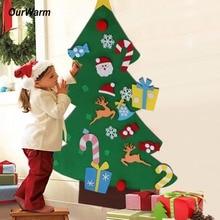 Ourwarm Подарки на Новый год Дети DIY Фетр Новогодние товары Дерево Аксессуары рождественские подарки для 2018 Новое поступление на Новый год дверь стене висит Украшения