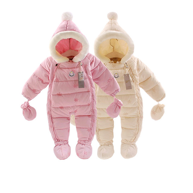 Baby winter clothes 2017 baby snow wear coats down overalls thick warm jumpsuit  baby girs boys clothes children snowsuit wear