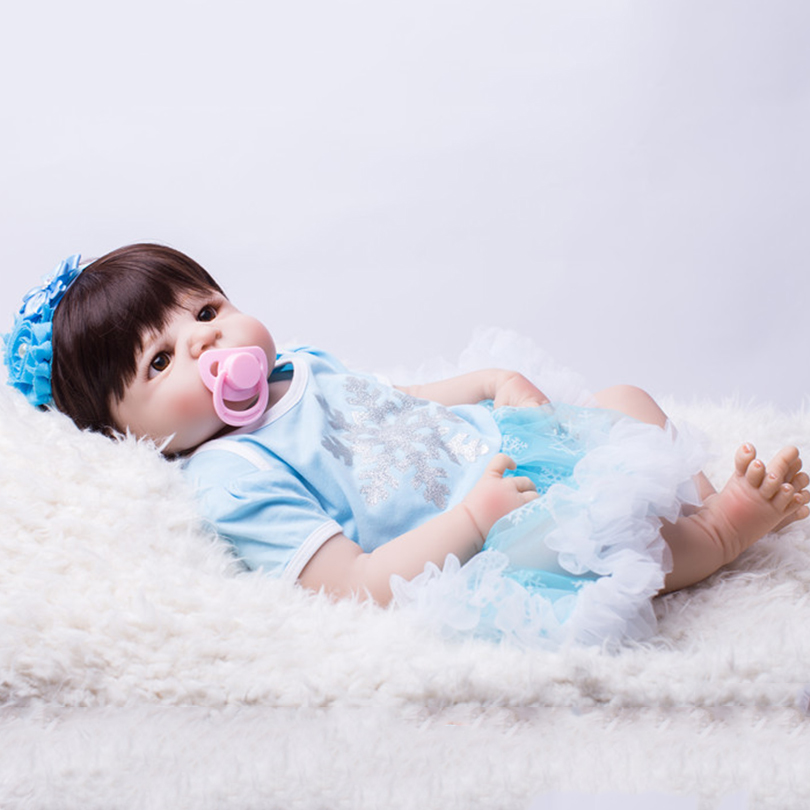 55cm Full Silicone Reborn Baby Dolls Toy Princess Toddler Babies Alive Victoria Doll Girl Bonecas Child Birthday Gift Play House vinyl silicone toddler doll toy play house dolls birthday gift for kids child 55cm cute high end princess reborn girl baby dolls