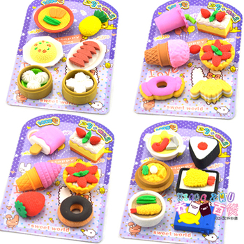 Fruit Promotional Fantastic Pencil Rubber School Supplies Eraser Stationery For Kids Eraser Kawaii Eraser For Kids Cute Eraser cute cat rubber eraser pencil erasers stationery student children kids prizes promotional gift office school supplies