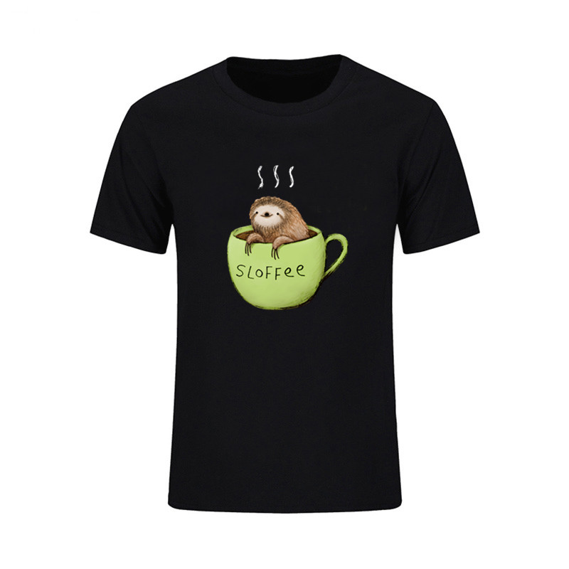 Men's Clothing Latest Collection Of Men Fashion Brand T Shirt Personalized Fashion T Shirts Men Sloffee Sloth Coffee Mens T Shirt Short Sleeve T Shirs Tops & Tees