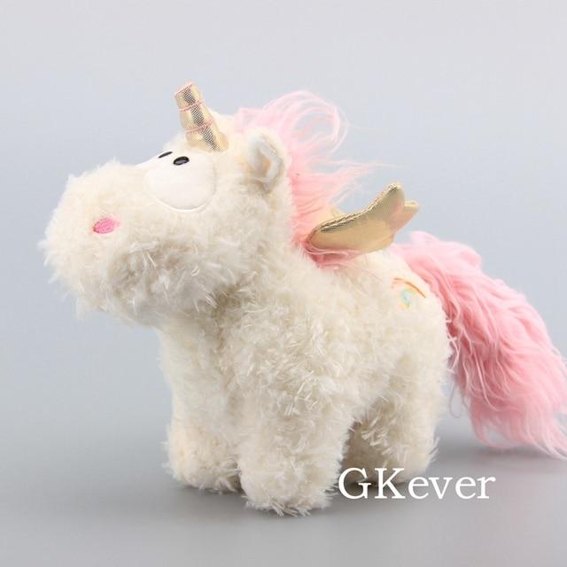 Anime Cute Pink Unicorn Charm Plush Dolls Adorable Fluffy Unicorn