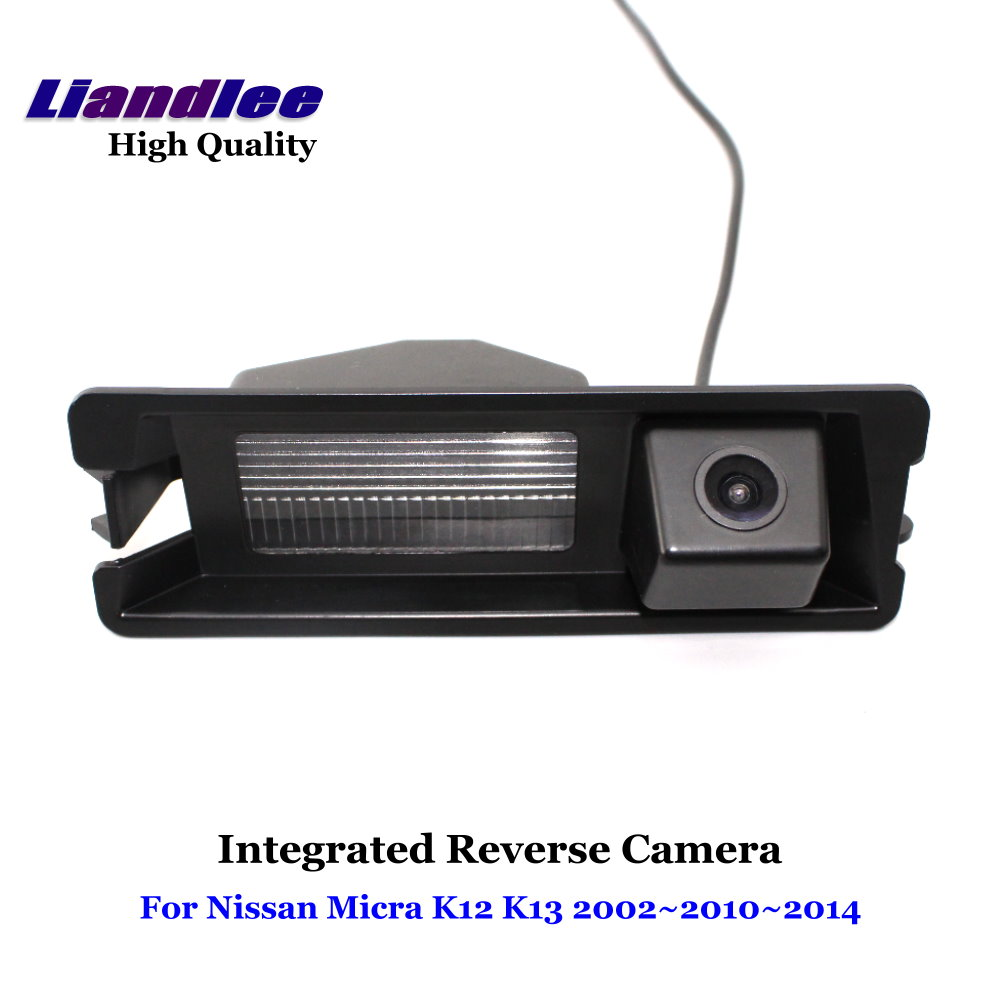 Liandlee For Nissan Micra K12 K13 2002~2014 Car Rear View Backup Parking Camera Rearview Reverse Camera / SONY CCD HD Integrated new hot special ccd hd nightvision 8 led car rear view reverse backup camera for nissan march renault logan renaults sandero