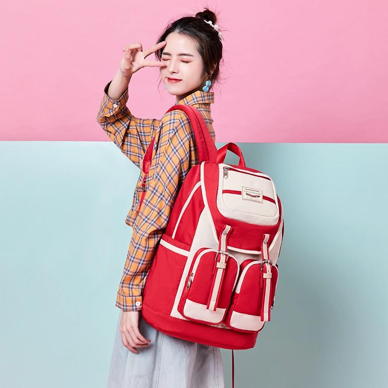 Edison Women's Backpack Casual Fashion Trend Backpacks Waterproof Travel Female Backpack Girl Student School Bag