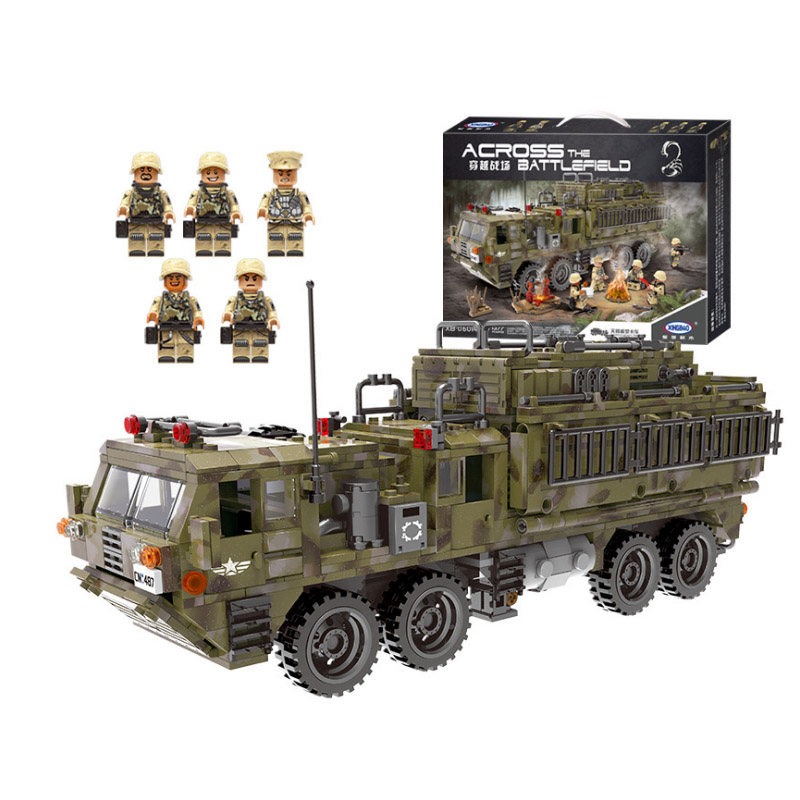 Xingbao WW2 Military Series Heavy Truck model building blocks figure bricks Compatible With toys children gift-in Blocks from Toys & Hobbies    1