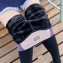 3589a817f7780 Plus Size Autumn Women Solid Winter Thick Warm Fleece Lace Lined Thermal  Stretchy Leggings Pants Velvet
