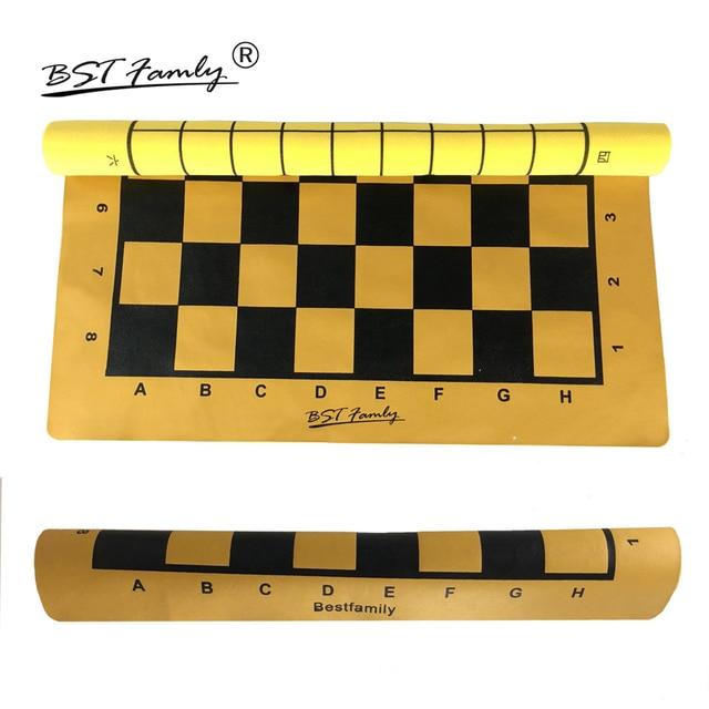 Ensemble de pièces en cuir PU, plateau d'échiquier pliable de 46x50cm ou Shogi, plateau d'échecs IB4 de 45x50mm 1