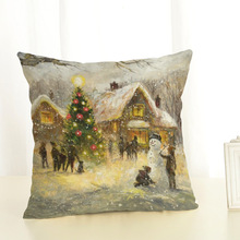 45x45cm Pillow Case Christmas New Year Decorations