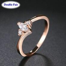 Розовое золото, высокое качество, утонченное, одиночное кольцо для женщин, для свадебной вечеринки, CZ камень, модные ювелирные изделия, кольца DWR797M