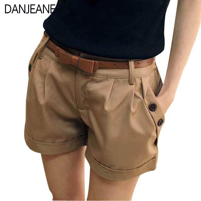 2016 New Fashion Women Summer Shorts England Style Woman Casual Ladies Shorts Without  Belt  A0016