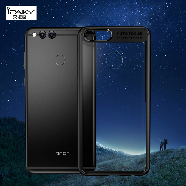 new style 93115 f818d US $4.99 |For Huawei Honor 7X Case Cover Original Ipaky TPU Silicone  Transparent Acrylic Back Panel Phone Case for Huawei Honor 7X Cover-in  Fitted ...