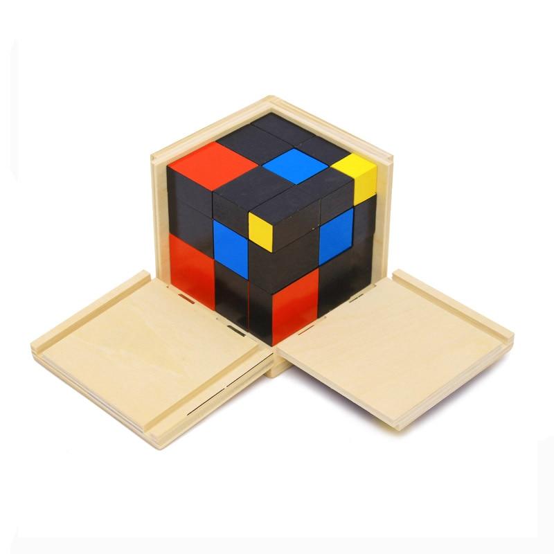 Montessori Early Childhood Education Jouet Éducatif En Bois Trinôme Préscolaire Mathématiques Formation