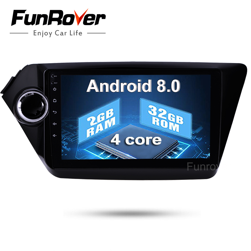 Quadcore 2 Din Car dvd gps Android8.0 9 inch For Kia Rio K2 2012 2013 2015 2016 Radio tape recorder Navigation multimedia stereo