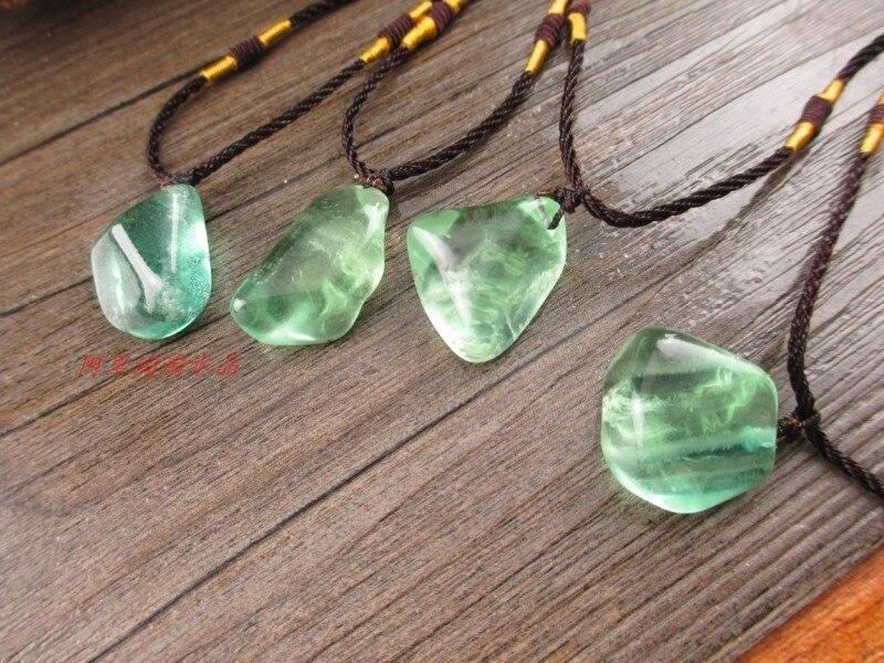 Rainbow Natural Stone : U aanatural stone rainbow fluorite jewelry pendant