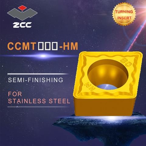 Semi-acabamento de Aço Revestido de Metal Pastilhas de Torneamento Torno Ccmt – Lote Ccmt0602 Ccmt09t3 Ccmt1204 hm Inoxidável Duro Cnc 10 Pçs