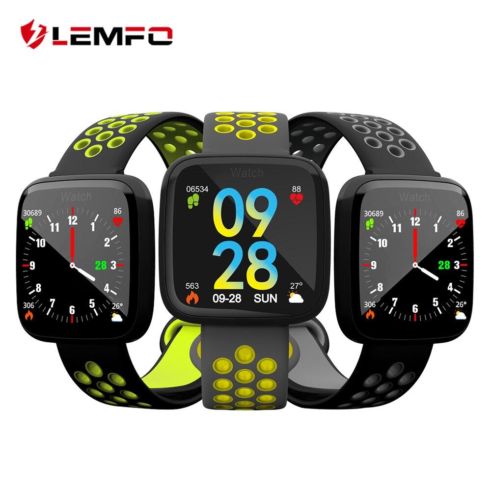 LEMFO Smart Sport Fitness Bracelet 2.5D TFT Écran Gorilla Verre Trempé Sang Pression D'oxygène IP67 Étanche Smartwatch