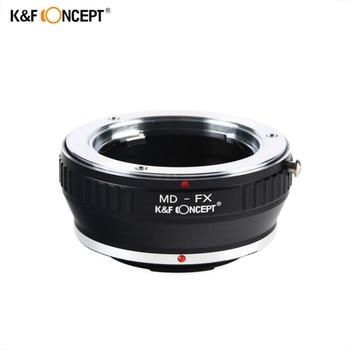 K&F CONCEPT MD-FX Lens Adapter Ring for Minolta MD Mount lens to Fujifilm Fuji X-Pro1 X Pro 1 Camera lr fx leica r lens to fujifilm x pro1 mount adapter black