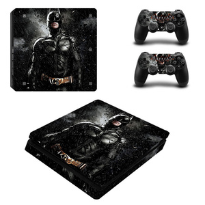Image 1 - Black Batman Skin Sticker Cover Protector Vinyl Sticker For PS4 Slim Console Kinect and 2 Controller Skin