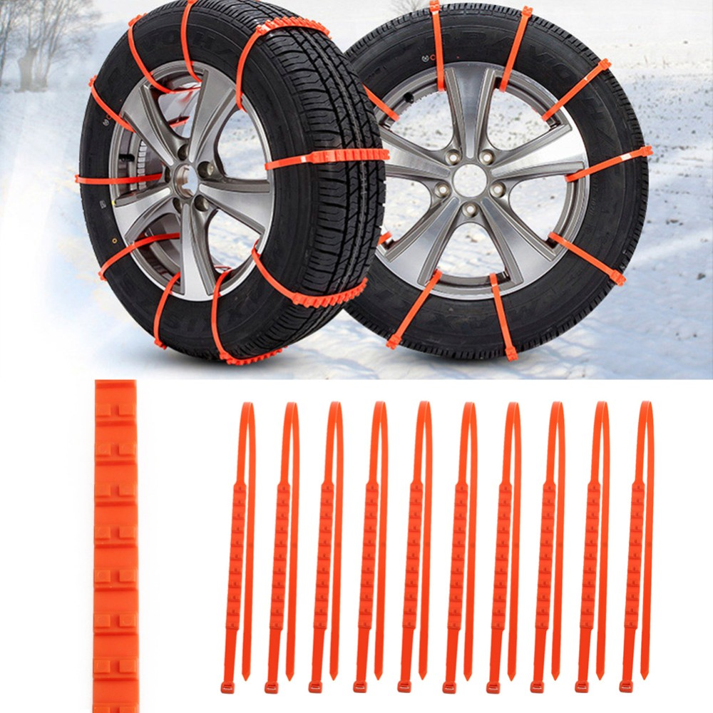 10PCS Set Car Universal Mini Plastic Winter Tyres wheels Snow Chains For CarsSuv Car-Styling Anti-Skid Autocross Outdoor C45