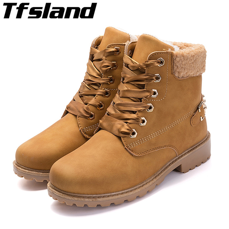 6f82a4de65f US $34.62 |Women Plush Rivet Snow Boots Retro Leather Autumn Winter Boot  Ladies Satin Lace Up High Heel Walking Shoes Martin Boots Sneakers-in  Walking ...