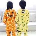 Crianças jirafa pijama girafa dos desenhos animados Bob esponja meninos roupa do bebê pijama crianças pijama de Bob Esponja bonito pijama infantil STR19