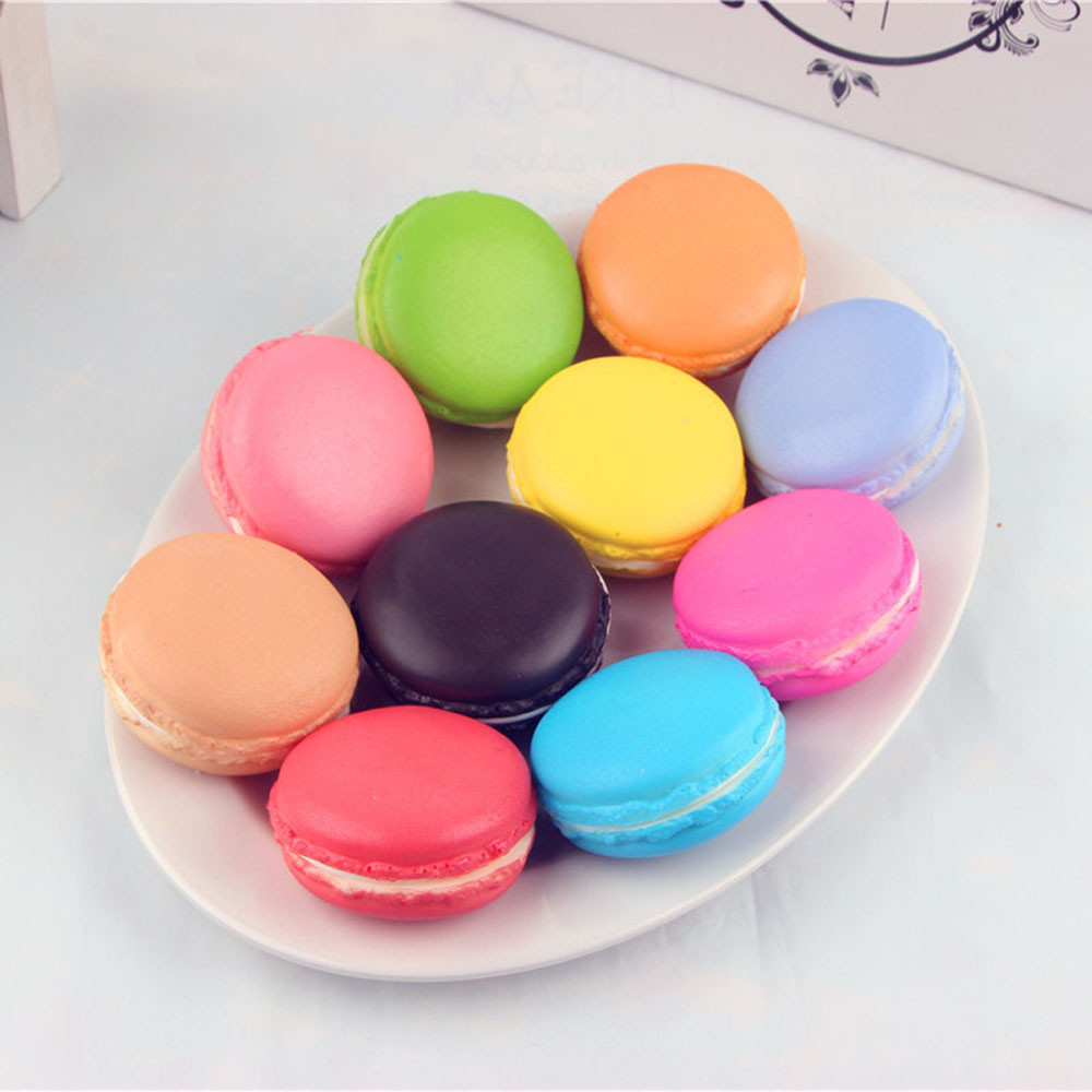 1pc Simulation Macaron Squeeze Toy Food Squishy Squishes Slow Rising Toys Decompression Kawaii Stationery Stress Relief Toy A1