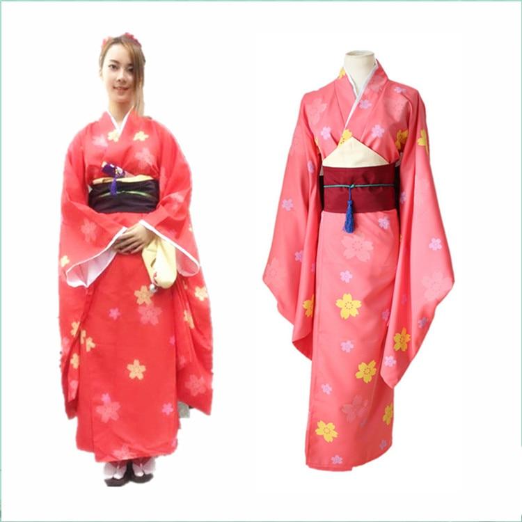 Anime Gugure! Kokkuri-san halloween Ichimatsu Kohina party women costume Japanese Kimono