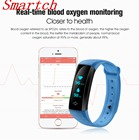 Smartch M2S Plus Smart Bracelet Wristband Bluetooth Heart Rate Tracker Blood Pressure Oxygen Message Reminder For Android IOS