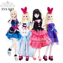 1 4 BJD Doll 45cm 18 jointed dolls Boy Girl Toy Doll Cake model Free Eyes