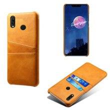 Business Style PU Leather Card Pocket Phone Case For Huawei Nova4 4e Nova 3 3i Retro Wallet CellPhone Back Cover Slim