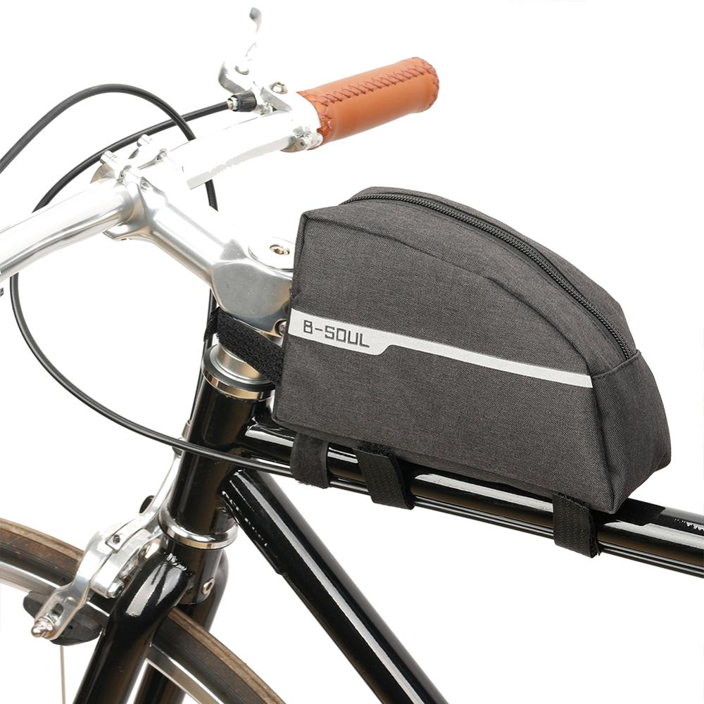 Waterproof Bike Triangle Bag Cycling Bicycle Double-layer Frame Front Tube Bags