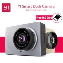 """Yi Smart Видеорегистраторы для автомобилей 165 градусов 2."""" тире Камера 1080 P 60fps ADAS безопасный напоминание WI-FI dashcam международных Xiaomi Yi dashcam"""