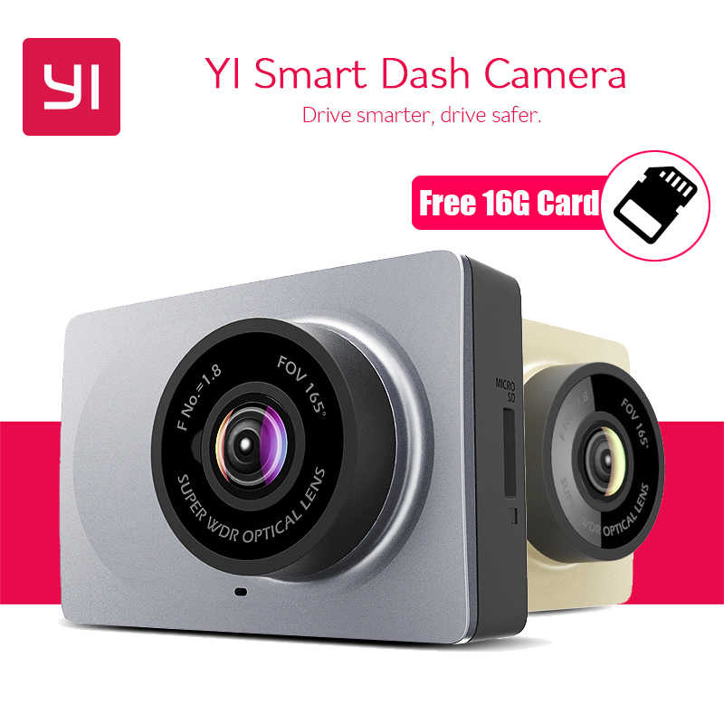 """Yi Smart Видеорегистраторы для автомобилей 165 градусов 2.7 """"тире Камера 1080 P 60fps ADAS безопасный напоминание WI-FI dashcam международных Xiaomi Yi dashcam"""