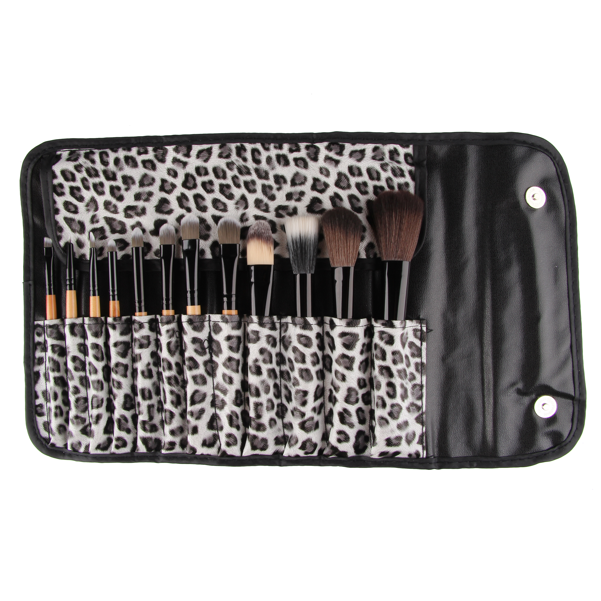 12Pcs Makeup Brush Set Foundation Cream Eyeshdow Facial Cosmetic Blush With Leopard Bag Make Up Tools Kit new style professional women lady facial makeup tools cream foundation soft type cosmetic make up brush easy carry