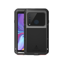 Shockproof Heavy Duty Metal Armor Case For Samsung Galaxy A9 2018 Case 360 Protective With Glass Cover For Samsung A9S 2018 Case