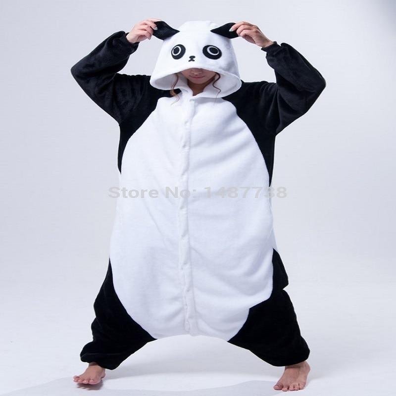 Kigurumi Panda Pajamas Animal Onesies Romper Sleepwear Jumpsuit - საკარნავალო კოსტიუმები - ფოტო 6