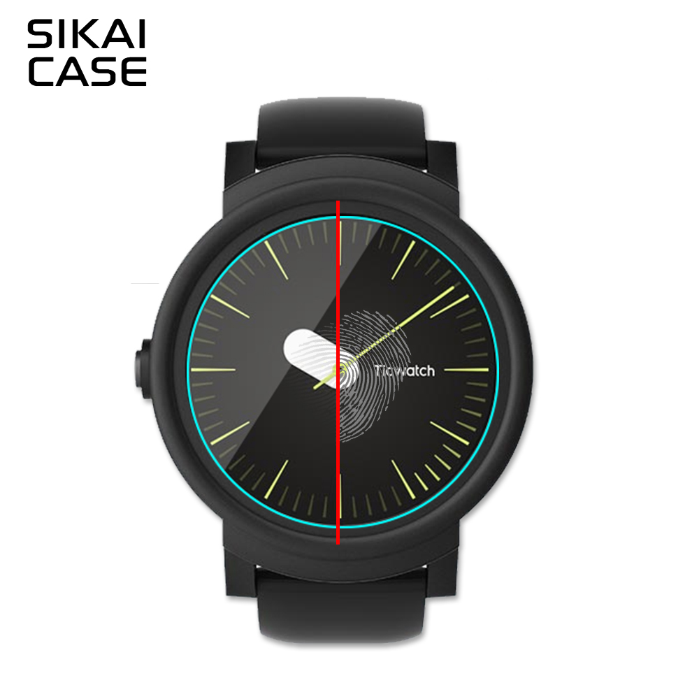 SIKAI 5pcs Tempered Glass Screen Protector For Ticwatch E An