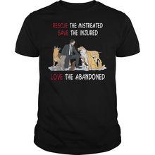 John Wick Rescue The Mistreated Save Injured T Shirt Black Cotton Men S-3XL Summer New Print Man Fashion T-shirt