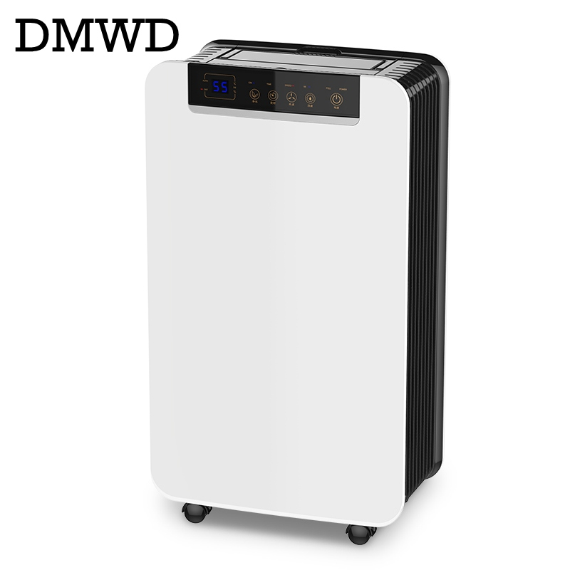 DMWD Electric dehumidifier defrosting for home air dryer cloth drying machine moisture absorb water intelligent dehumidifier